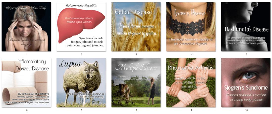 Autoimmune Diseases Social Posters PLR