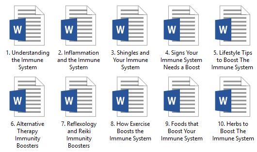 Immune PLR Articles