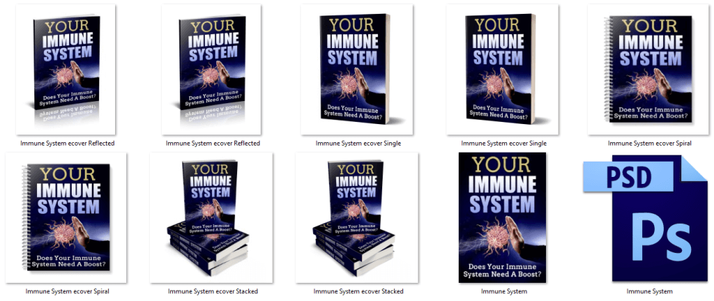 Immune PLR eBook Cover Graphics