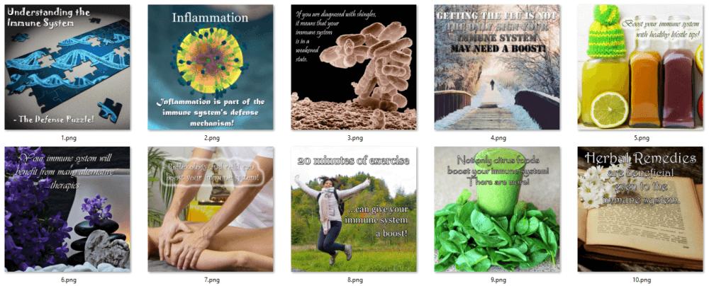 Immune System PLR Social Posters