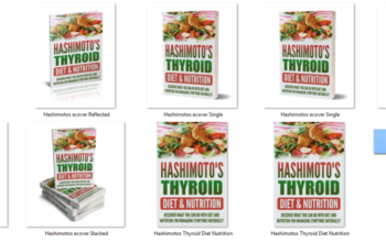 Hashimoto's Thyroid Diet PLR eBook Cover Graphics