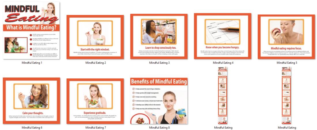Mindful Eating PLR Infographics