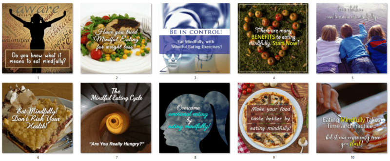 Mindful Eating PLR Social Posters