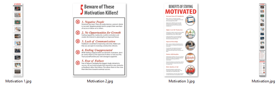 Motivation PLR Infographics