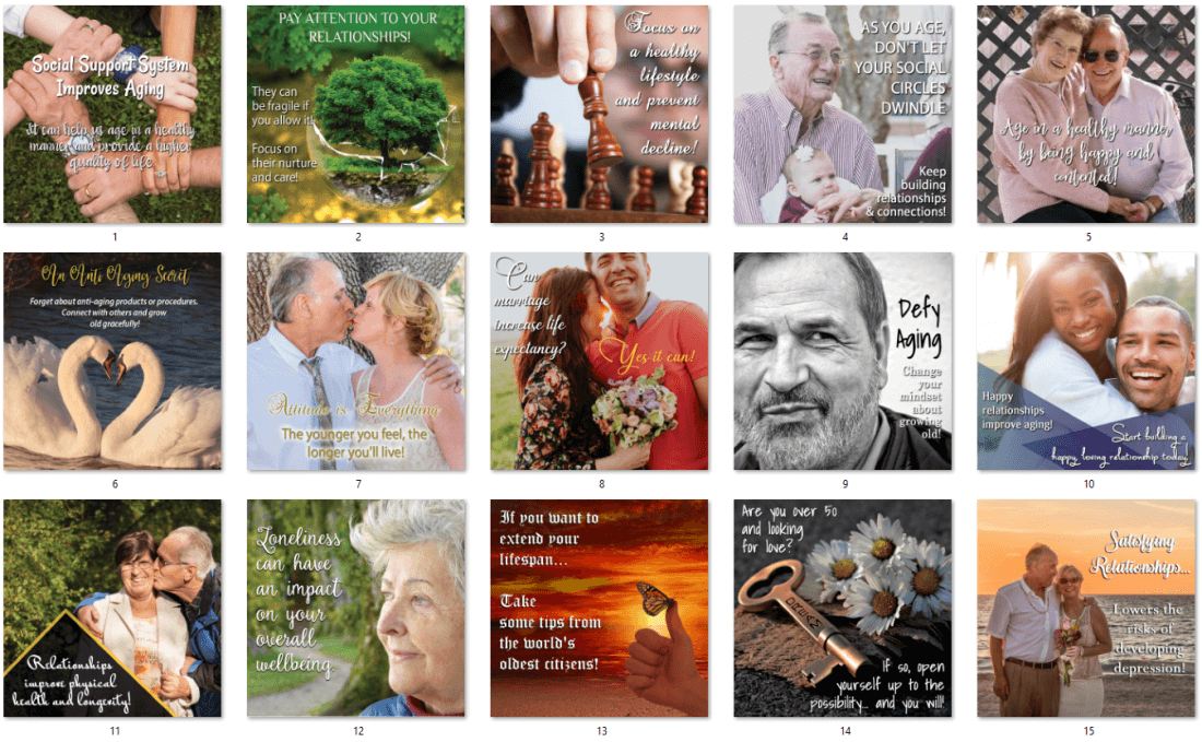 Aging - Relationships are Key PLR Bonus Social Posters
