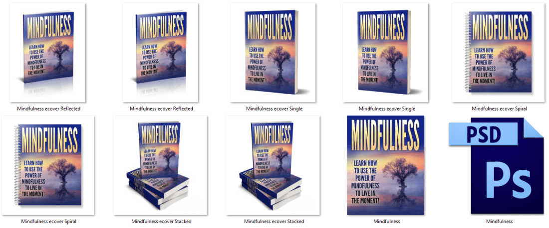 Mindfulness PLR eCover Graphics