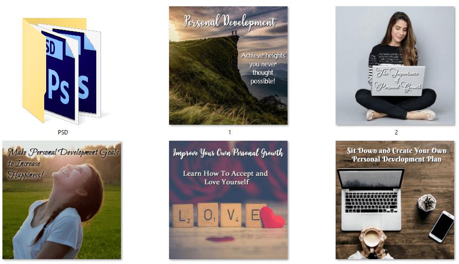Personal Development Social Posters