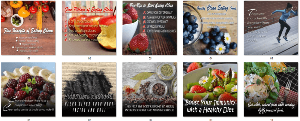Clean Eating PLR Posters 1