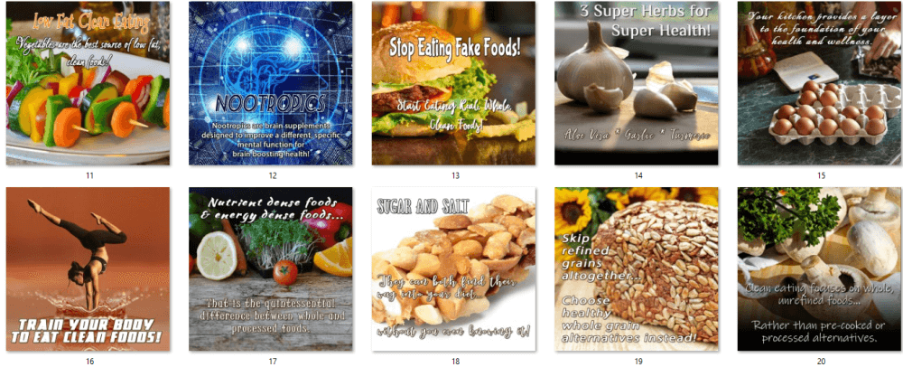 Clean Eating PLR Posters 2