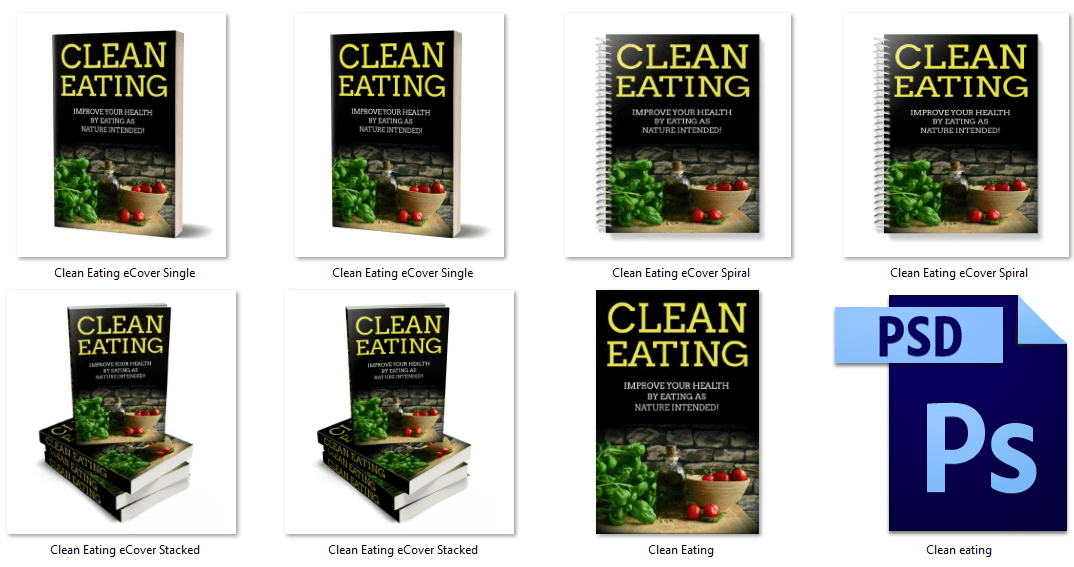 Clean Eating PLR eCover Graphics 1