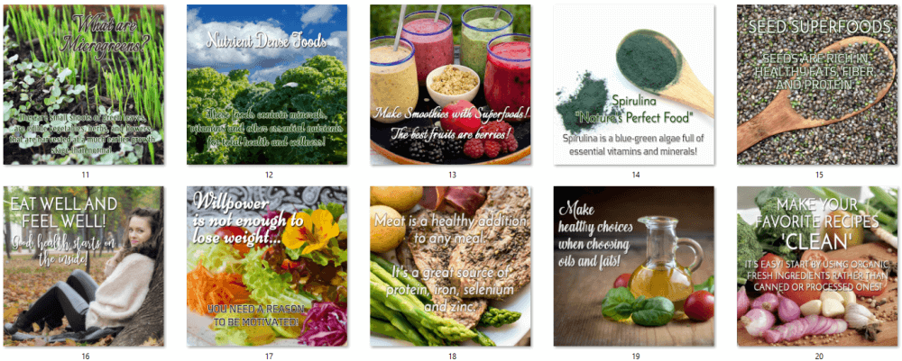 Clean Eating Posters 5