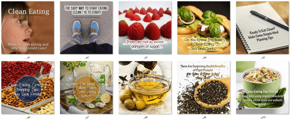 Clean Eating Social Posters 3