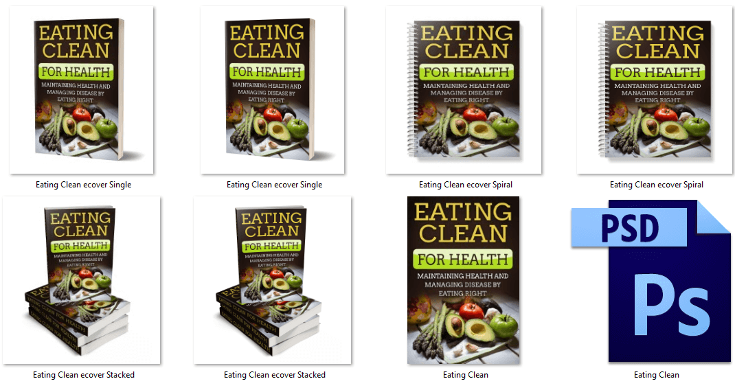 Eating Clean eCover Graphics