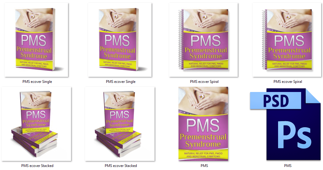 Premenstrual Syndrome PMS PLR eCover Graphics