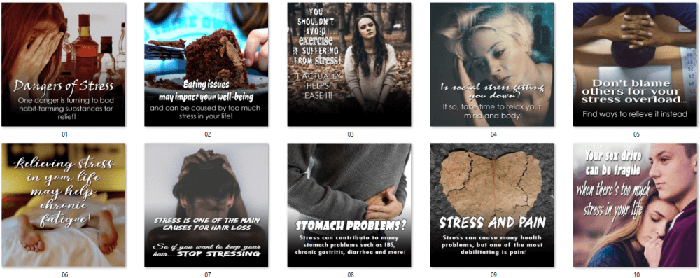 Stress Social Posters 1