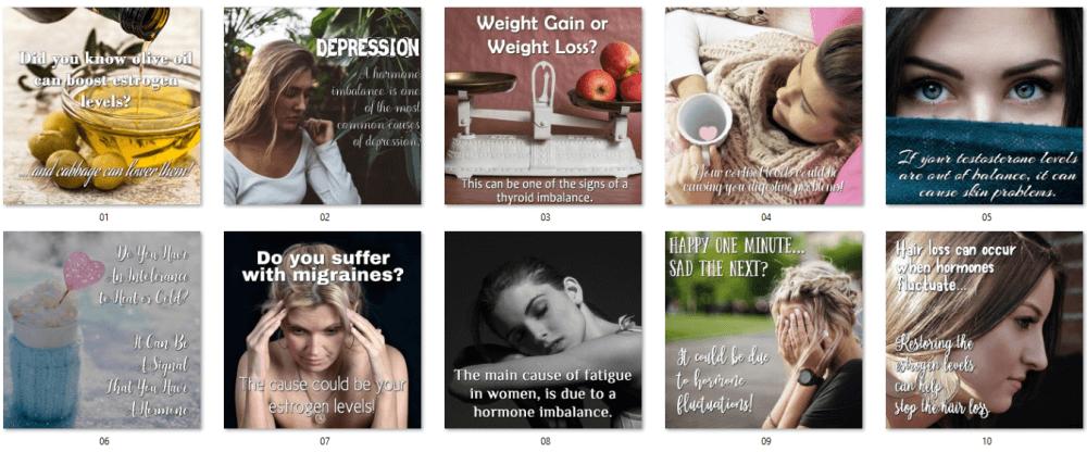 Women's Hormones Social Posters 1