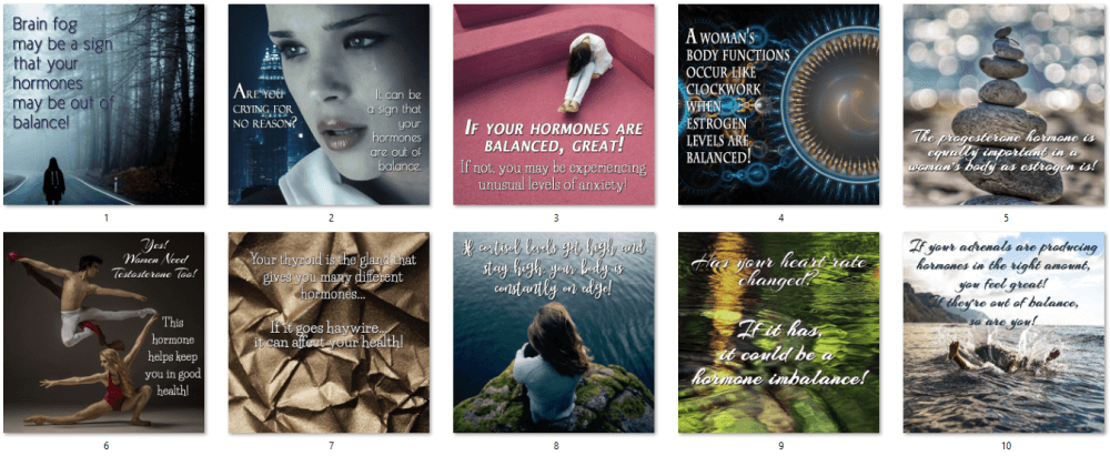 Women's Hormones Social Posters 2