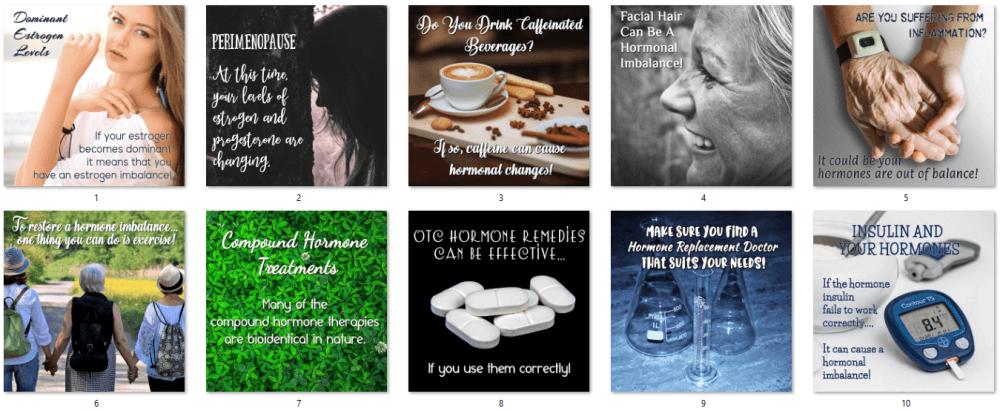 Women's Hormones Social Posters 4