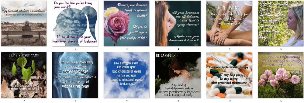 Women's Hormones Social Posters 5