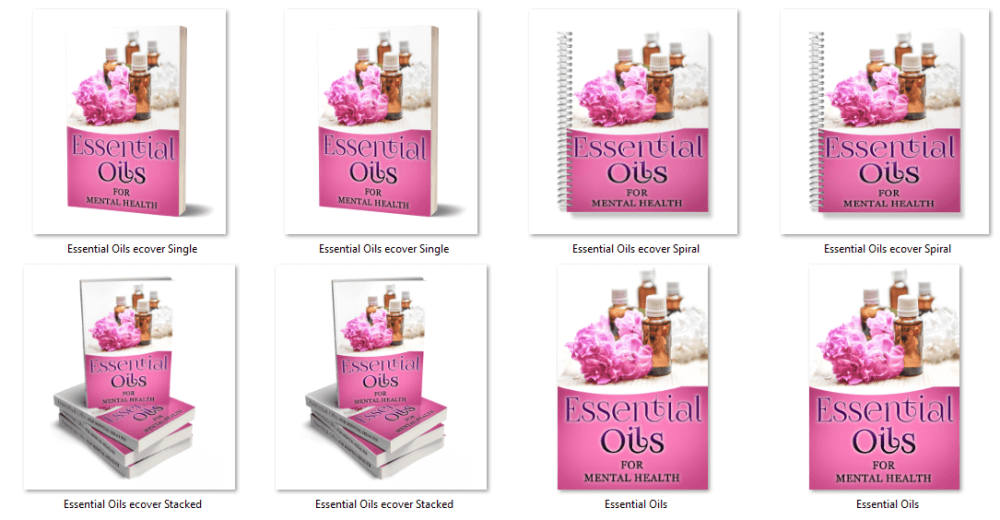 Essential Oils PLR eCover Graphics