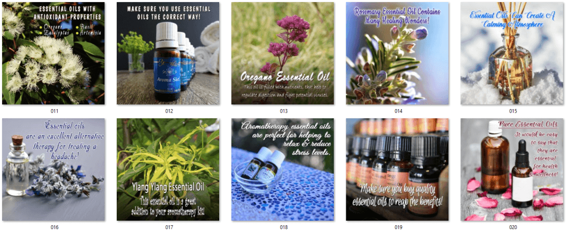 Essential Oils Social Posters - Main Offer 2
