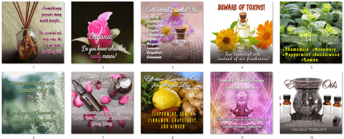 Essential Oils Social Posters - Upgrade 1