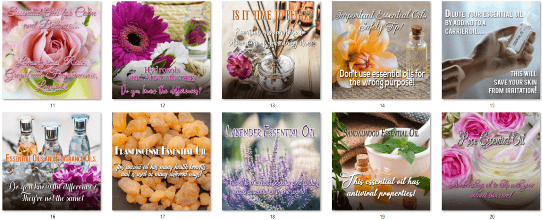 Essential Oils Social Posters - Upgrade 2