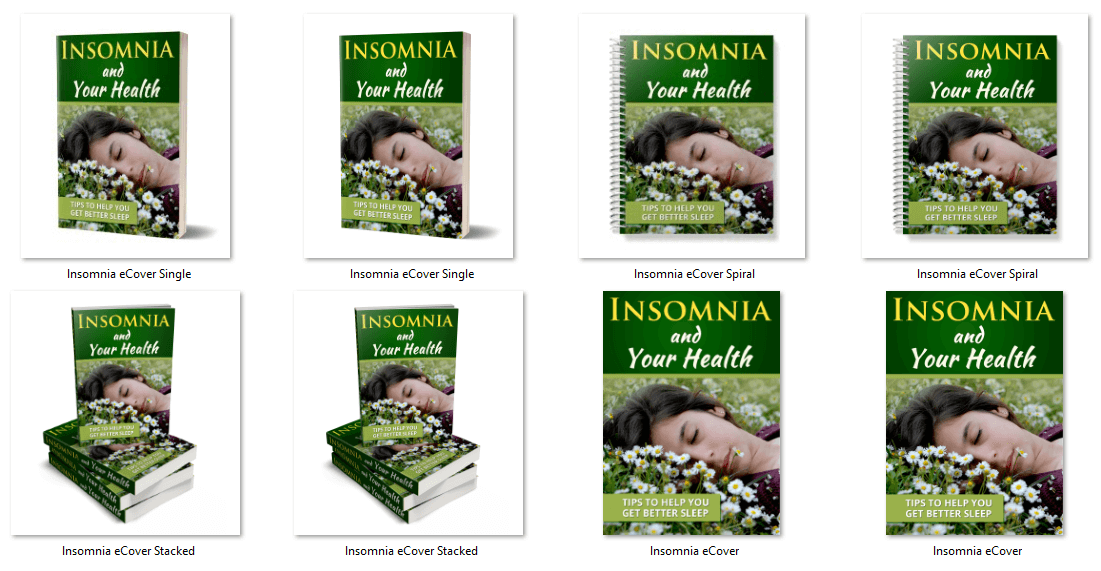 Insomnia PLR eBook Covers