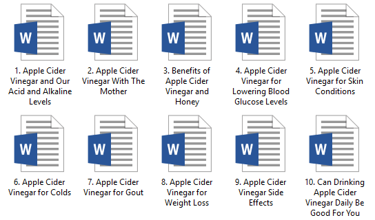 Apple Cider Vinegar PLR Articles