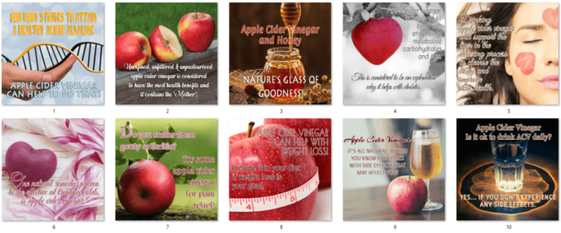 Apple Cider Vinegar PLR Social Posters