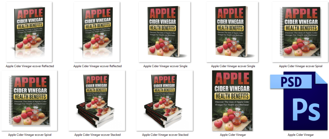 Apple Cider Vinegar PLR eBook Covers