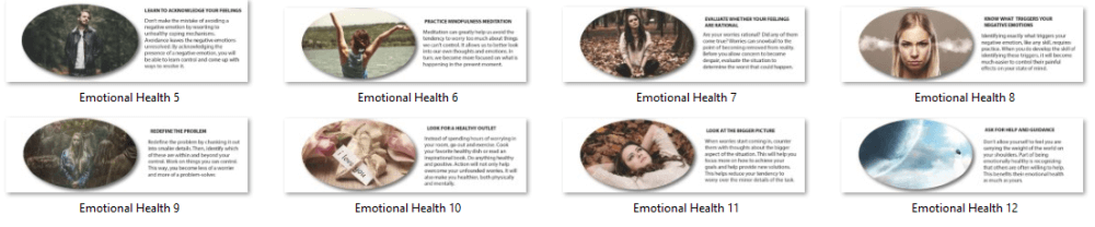 Emotional Health PLR Infographics 2