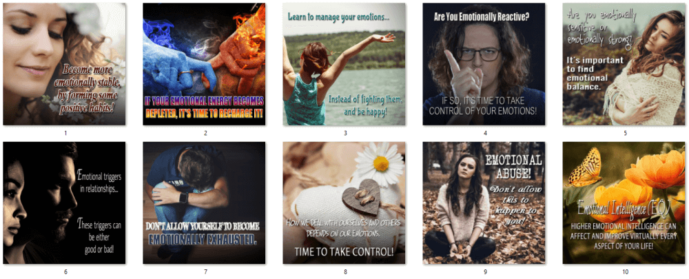 Emotional Health PLR Social Posters