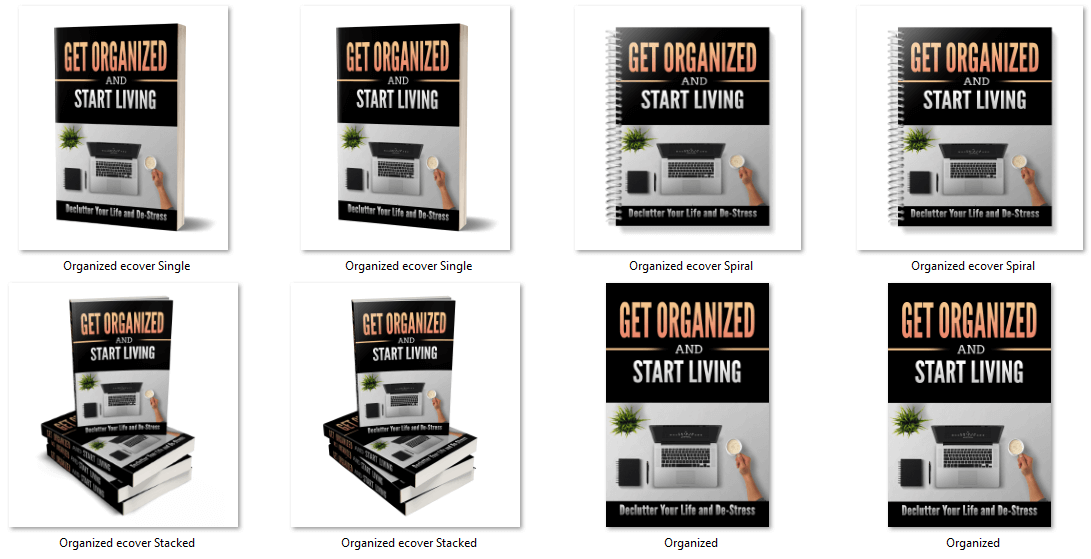 Being More Organized PLR eCover