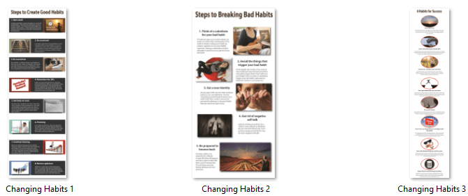 Changing Habits Infographics