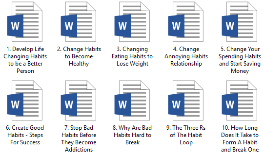 Changing Habits PLR Articles