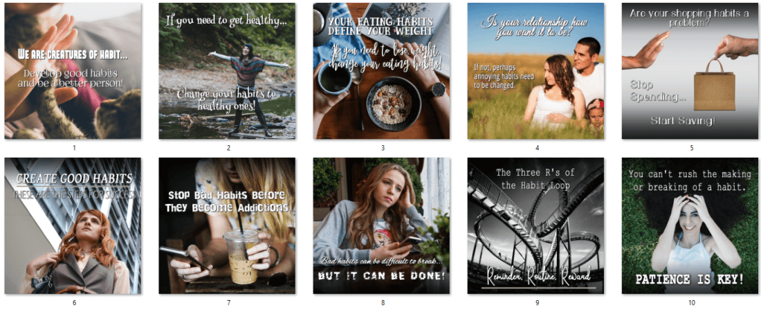 Changing Habits PLR Posters