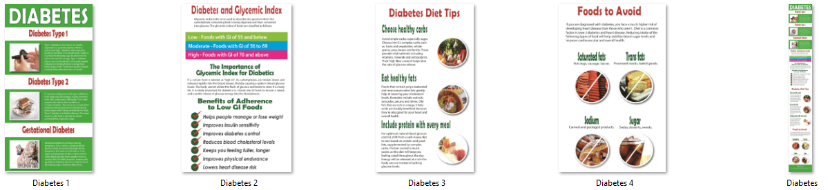 Diabetes Diet PLR Infographics