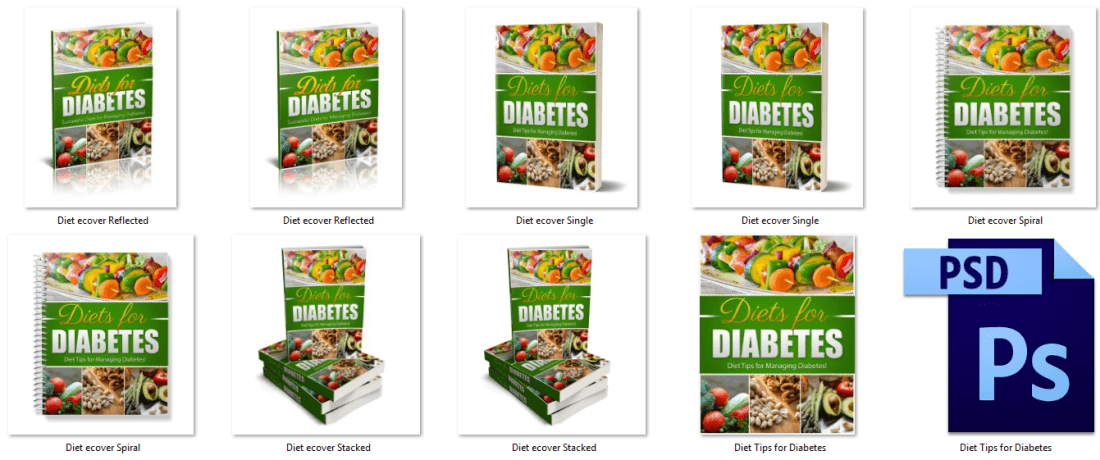 Diabetes Diet PLR eBook Covers
