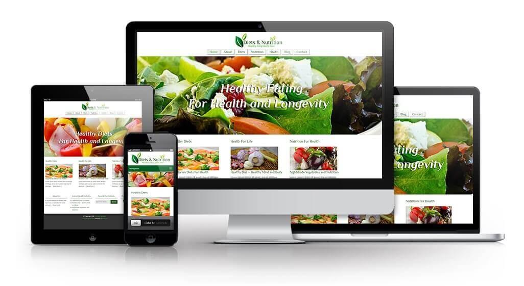 Healthy Eating PLR Special Offer + Website Image