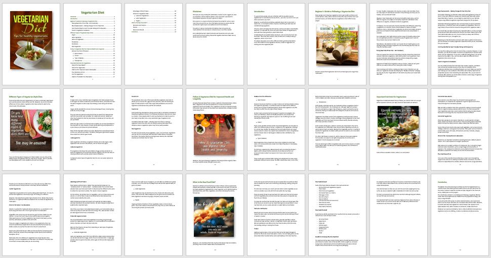 Vegetarian Diet PLR eBook