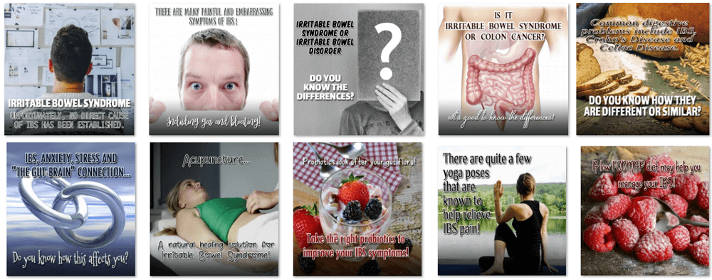 Irritable Bowel Syndrome Social Posters