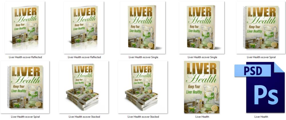 Liver Health PLR eBook Covers