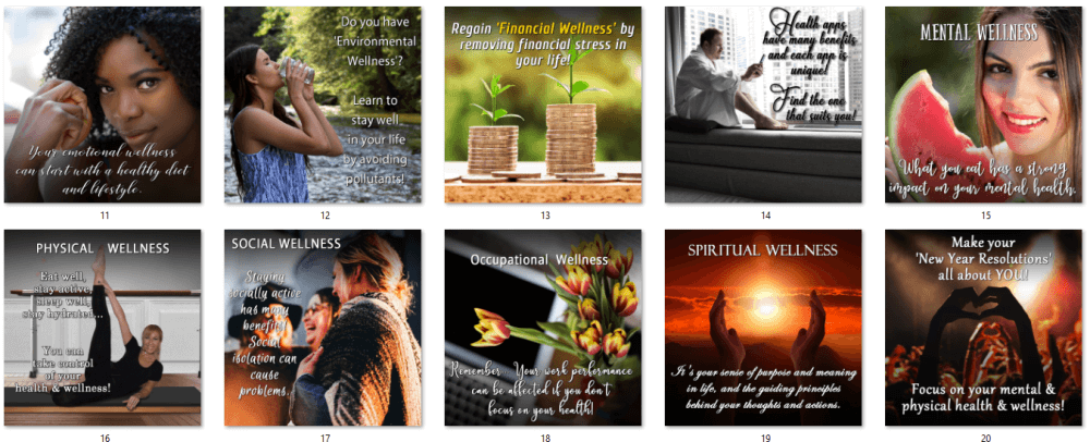 Total Wellness PLR Social Posters BONUS 2