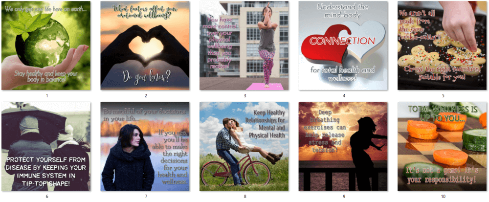 Total Wellness PLR Social Posters