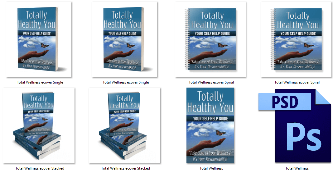 Totally Healthy You PLR eBook Covers