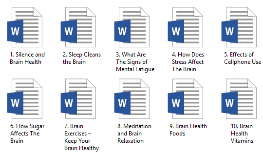 Brain Health PLR Articles