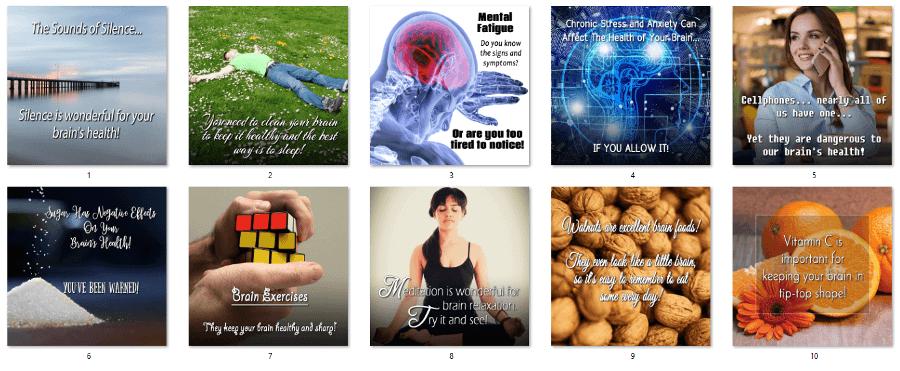 Brain Health PLR Social Posters