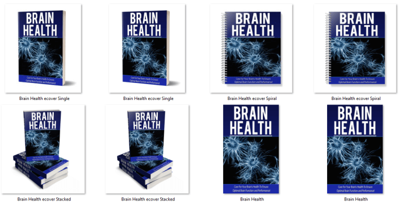 Brain Health PLR eBook Covers