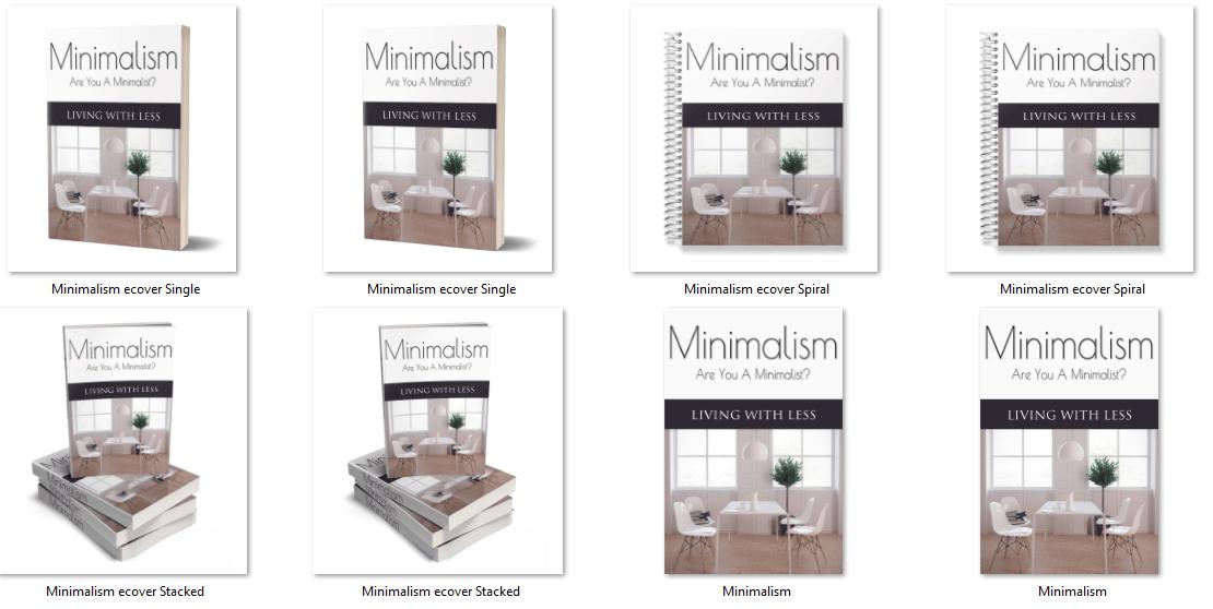 Minimalism PLR Report eCovers